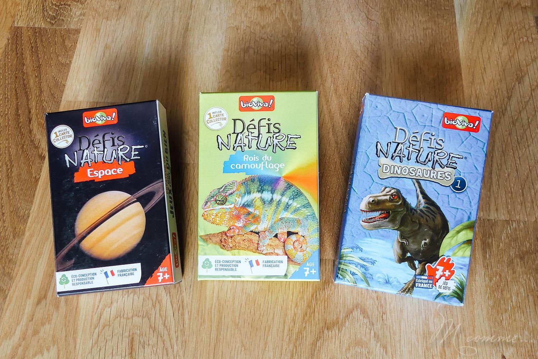 Défis nature de Bioviva est une collection de jeux de cartes qui s'apparente à un jeu de bataille. Educatif, ce jeu sensibilise les enfants aux animaux et à la beauté du monde en s'amusant. Découvrez les rois du camouflage, les dinosaures et l'espace. #curiosité #bioviva #jeu #apprentissage #nature #animaux #decouverte #sensibilisation #jeudesociete #jeudesocieteenfants #jeudecartes #jeudecartesenfants