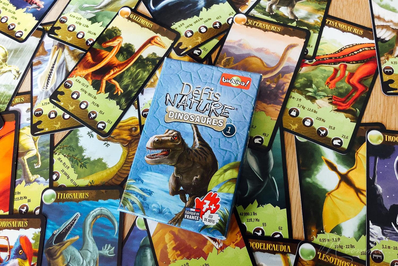 jeu défis nature dinosaures bioviva