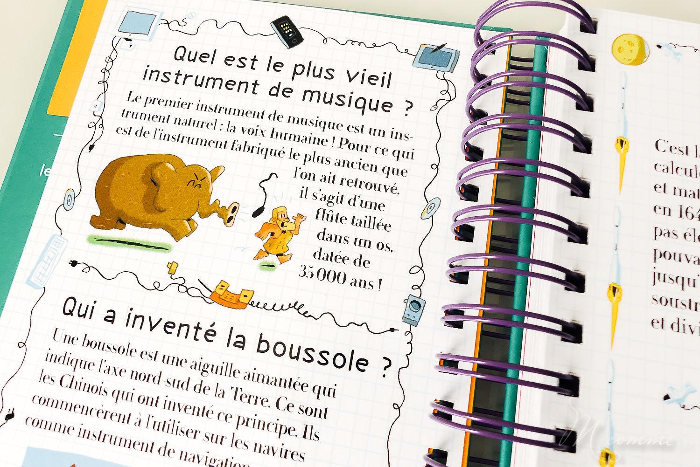 livre questions enfants sciences et inventions