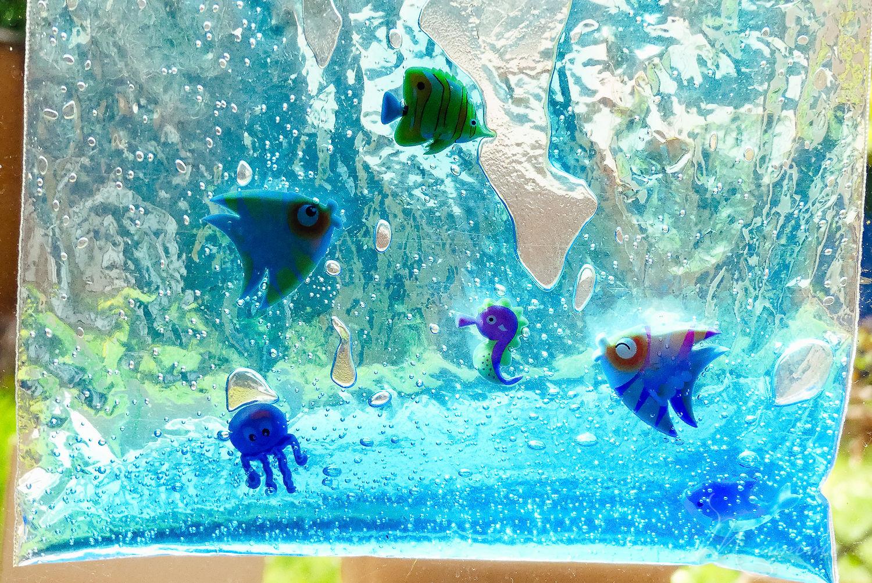 sac sensoriel aquarium gel et poissons