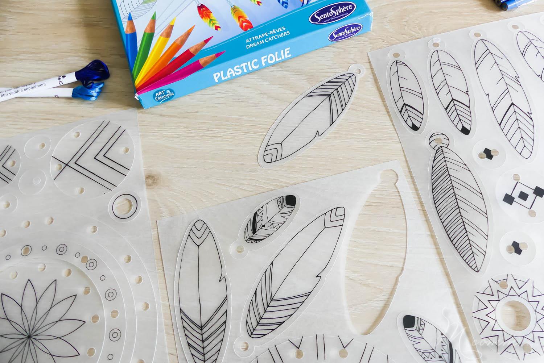 kit créatif attrape reves plastique fou sentosphere
