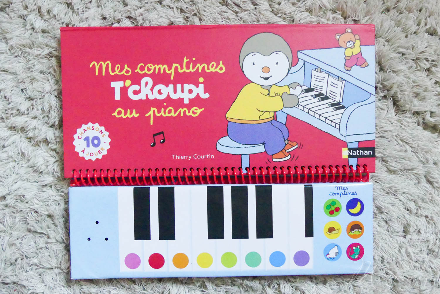 mes comptines t'choupi au piano