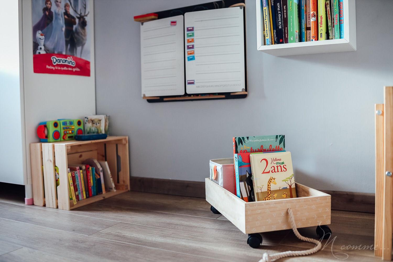 chambre montessori coin lecture