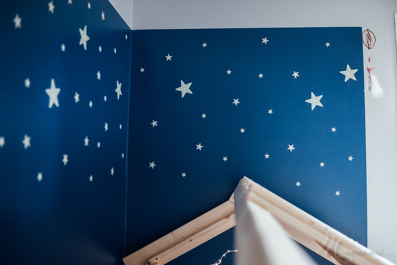 chambre montessori décoration étoiles phosphorescentes